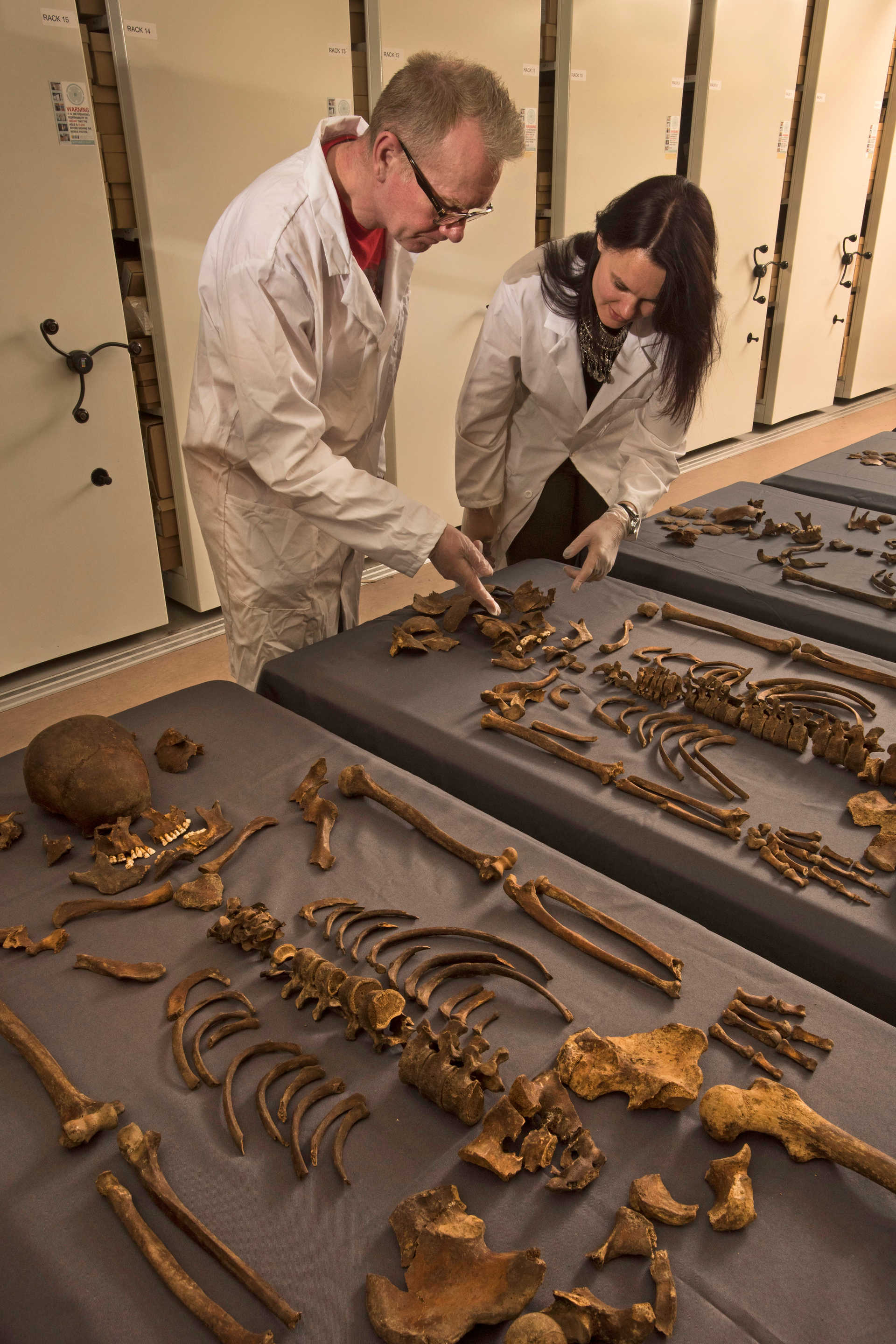 MOLA archaeologists examine 1665 Great Plague victim_244618 ...