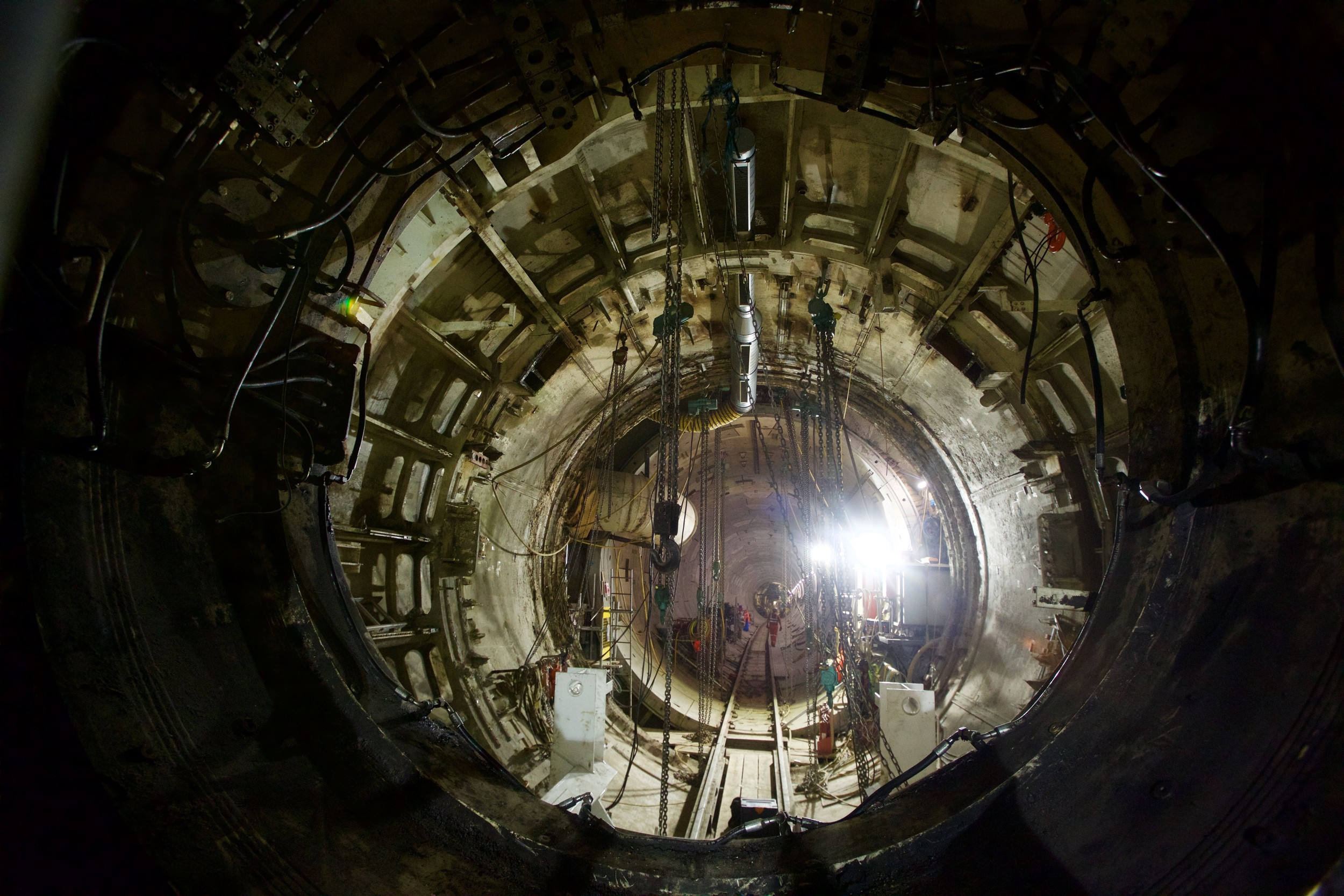 TBM Victoria Finished at Farringdon Station